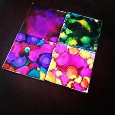 Alcohol Ink Coasters from February TO DIY FOR Box! #darbysmart