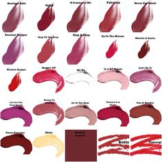 Bright Winter Lipsticks (top), Lip Glosses (middle), & Lip Pencils (last three) from Elea Blake Cosmetics.