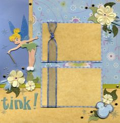 Tinkerbell Right Page - Scrapbook.com