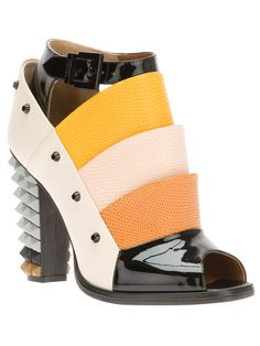 FENDI open toe shoe boot ...Follow Colorful Shoes: https://www.pinterest.com/lyndanna/colorful-shoes/ #shoes ..  How To Create Viral Images Fast Easy & Free! Visit CashForBloggers.com
