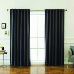 Best Home Fashion Thermal Insulated Blackout Curtains - Back Tab/Rod Pocket - Cardinal Red- W x L – Tie Backs Included (Set of 2 Panels) Grey Blackout Curtains, Dark Curtains, Double Curtains, Cool Curtains, Panel Curtains, Curtain Panels, French Door Curtains, French Doors Patio, Country Curtains