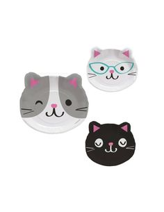 076cc86de41d Cat Shaped Plates - Cat Birthday - Kitty Baby Shower - Meow Birthday -  Kitten Birthday