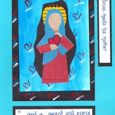 Stations of the cross 4 Holy Week, Bible Crafts, Lessons For Kids, Lent, Catholic, Original Artwork, Prayers, Easter, Activities