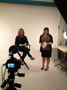 Media Training with Lindsey. #PR #media #studio