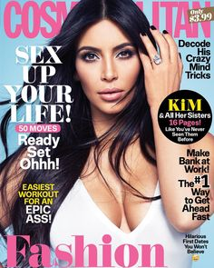 Alpha-Kardashian (isn't that redundant?) KIM KARDASHIAN-WEST gets her own Cosmo cover. Kim Kardashian, Kardashian Photos, Kardashian Family, V Magazine, Magazine Covers, Marie Claire, Vanity Fair, Vogue, Nylons