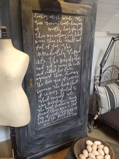 Love this Lion Witch & The Wardrobe Script painted onto a black board painted wardrobe, beautiful! At Baileys Home & Garden, Ross-on-wye :)