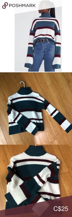 🔥HOST PICK 🔥 New turtleneck knit sweater size S Never worn from urban outfitters, no tag, new condition. See photo for the detailed sizing Size S fits S or Xs Urban Outfitters Sweaters Cowl & Turtlenecks Urban Outfitters Sweaters, Plus Fashion, Fashion Tips, Fashion Trends, Fit S, Turtlenecks, Cowl, Sweaters For Women, Knitting