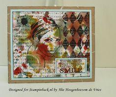 Designed for Stampinback.nl with Stampinback.nl stamps, coloured with Bistre - Bister, by Alie Hoogenboezem-de Vries