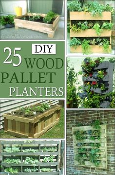 25 DIY Wood Pallet Planter Plans and Ideas