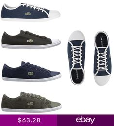 4b03260ce447 Lacoste Women Fashion Casual Lace Up Shoes NEW Ziane Canvas Series Sneakers