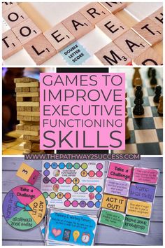 Use games like jenga, scrabble, chess, and other fun board games to strengthen executive functioning skills for kids and teens! Students in your classroom will think they are just having a fun break time while playing some of these games. Meanwhile, they will be practicing self-control, flexibility, perseverance, planning, and much more. #executivefunctioning #pathway2success
