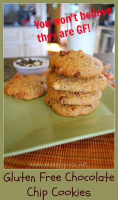 Food Fun Friday - Gluten Free Recipe Chocolate Chip Cookies | Mess For Less