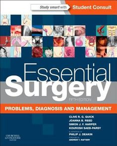 Essential Surgery: Problems, Diagnosis and Management with Student Consult Online Access, 5ed (2013). Clive R. G. Quick, Joanna B Reed, Simon J.F. Harper, Kourosh Saeb-Parsy, Philip J. Deakin. EBOOK [Print copies available at Lee Wee Nam Library and Medical Library. Call No.: RD31.Q6]
