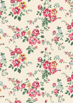 Thorp Flowers | A pretty trailing floral in juicy orchard colours that's the perfect friend to our fruity prints | Cath Kidston AW16 |