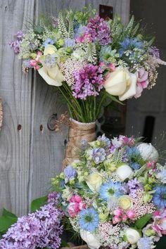 Vintage Gathering Wedding Flowers:  Country Style Hand Tied wedding bouquet. www.sororidesign.co.uk