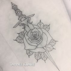 neo traditional dagger tattoo - Buscar con Google