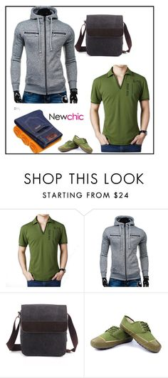 """Newchic48"" by merisa-imsirovic ❤ liked on Polyvore featuring men's fashion and menswear"