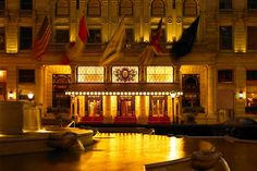 The legendary Champagne Bar at the Plaza in New York City overlooks Grand Army Plaza's picturesque Pulitzer Fountain