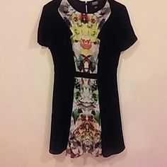 PRICE REDUCED Dress black and print WOW THIS DRESS IS GORGEOUS black and in the center print. parabal gurung Dresses