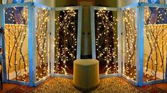Image result for room divider with lights