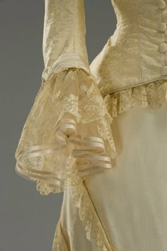 Time:1880 Costume designed by Maurizio Millenotti, realized by Tailoring Tirelli in 1996 worn by Sophie Marceau in the film Anna Karenina, directed by Bernard Rose. Detail