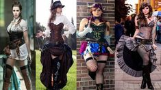 Cool Steampunk Outfits & Dresses for Girls & Women – Exercises and Fitness Steampunk Fashion Women, Steampunk Clothing, Steampunk Outfits, Victorian Style Clothing, Victorian Era Fashion, Vintage Fashion, Mode Outfits, Dress Outfits, Fashion Outfits