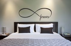Infinity Symbol Bedroom Wall Decal Forever Bedroom by NewYorkVinyl, $8.00