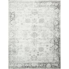 Sofia Floral Grey Area Rug (9' x 12') | Overstock.com Shopping - The Best Deals on 7x9 - 10x14 Rugs