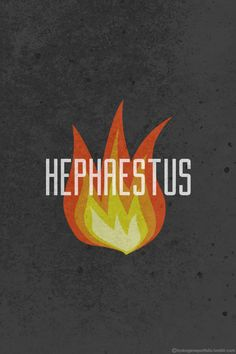 Minimalistic Posters Featuring The Symbols Of Legendary Greek Gods And Goddesses - Hephaestus