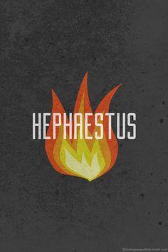 Minimalistic Posters Featuring The Symbols Of Legendary Greek Gods And Goddesses - Hephaestus