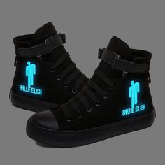 Glow in the Dark Luminous Sneakers Canvas Shoes - ecofashionova Billie Eilish, Student Flats, Dad And Son Shirts, Baskets, Casual Shoes, Men Casual, High Top Sneakers, Shoes Sneakers, Girls Shoes
