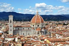 The Cathedral of Santa Maria del Fiore seen from the tower of the Palazzo Vecchio. Santa Maria, Amazing Architecture, Architecture Design, Sacred Architecture, Italy Tourist Attractions, Filippo Brunelleschi, Florence Cathedral, Day Trips From Rome, Florence Italy