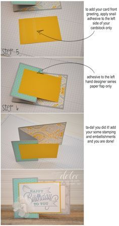Stampin' Dolce: diy Zfold card tutorial