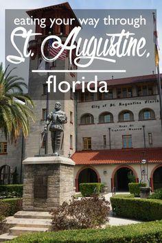 Your Way Through St. Augustine, Florida Eating Your Way Through St. Florida City, Visit Florida, Florida Vacation, Florida Travel, Florida Beaches, Vacation Spots, Travel Usa, Florida Living, Florida Keys