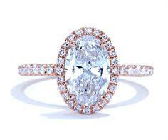 gorgeous oval and rose gold engagement ring