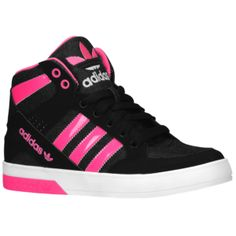88a65b0a6430 adidas Originals Hard Court Hi 3 - Girls  Grade School - Black Solar Pink