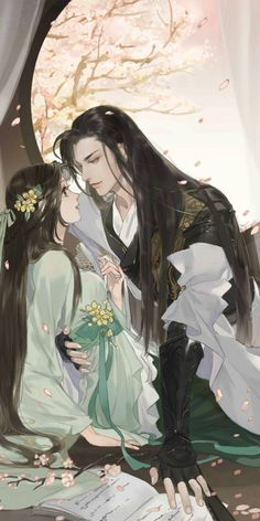 Couple Manga, Anime Love Couple, Anime Couples Manga, Couple Art, Chinese Picture, Chinese Artwork, Chinese Drawings, Anime Art Girl, Manga Art