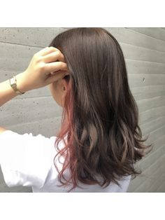 Hidden Hair Color, Hair Color Streaks, Underlights Hair, Aesthetic Hair, Dye My Hair, Hair Painting, Hair Looks, Pretty Hairstyles, Hair Inspiration