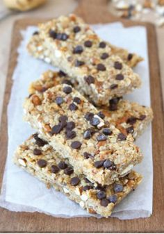 No-Bake Peanut Butter Pretzel Chocolate Chip Granola Bars – Perfect ...