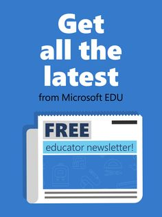 You can get EdTech tips delivered straight to your inbox! 📫 Sign up for the Microsoft Educator newsletter and be the first to know about upcoming events, product updates, and professional development opportunities. Technology Tools, Educational Technology, Learning Environments, Upcoming Events, Professional Development, The Help, Microsoft, Graphic Design, School