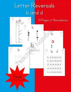 Letter Reversals |  b and d     from Selma Dawani Educational Therapy on TeachersNotebook.com (16 pages)  - Is your student have trouble with letter b and d? Using this method they will have it down in no time!!