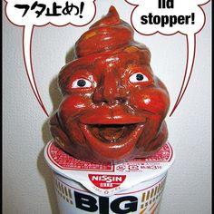 カップ麺のフタ止め! Cup noodle lid stopper! #うんこ #うんち #石粉粘土 #カップ麺 #cupnoodle #poop