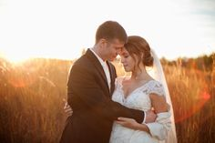 Amazing shot of a couple in the fields