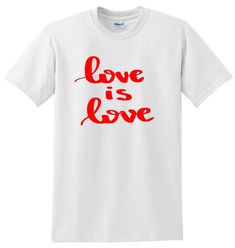 A quality short sleeve T Shirt. We can also do this in ladies fit and childrens sizes. Also if you would the T shirt or writing in a different colour just ask. Size Guides Men's T shirts S M L XL Women's T Shirts S M XL XXL Lesbian, Gay, Love T Shirt, Equality, Cool Designs, Pride, Etsy Shop, Writing, Clothing
