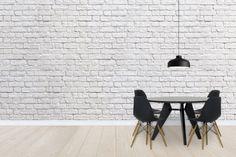 Brick Wall - White - Wall Mural & Photo Wallpaper - Photowall