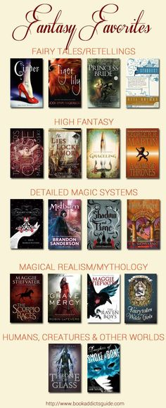 Top Ten Tuesday - January My Top (way more than) Ten favorite fantasy books (so far)! // The Book Addict& Guide Book Suggestions, Book Recommendations, Ya Books, I Love Books, Fantasy Magic, Fantasy Movies, Top Fantasy Books, Book Fandoms, Book Nooks
