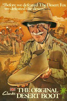 Publicité ancienne pour les desert boots de Clarks #mode #chaussures #dessertboots #boots #clarks #fashion #ads #vintage