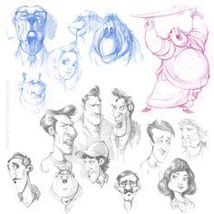 DATTARAJ KAMAT Animation art: Some exploratory sketches...