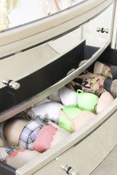 Organize organise lingerie underwear garnments bras bedroom & 52 best Underwear Storage 101 images on Pinterest | Underwear ...