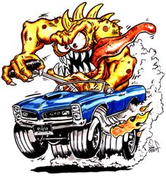 Obtain great ideas on hot rod cars. They are available for you on our internet site. Cartoon Car Drawing, Cartoon Rat, Cartoon Monsters, Cartoon Pics, Cartoon Characters, Ed Roth Art, Mustang, Funny Car Drag Racing, Cool Car Drawings